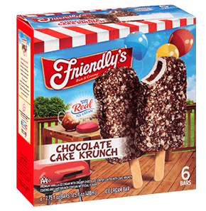 Chocolate Cake Krunch Ice Cream Bar packaging