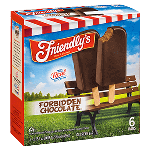 Forbidden Chocolate(R) Ice Cream Bar packaging