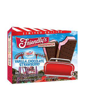 Vanilla, Chocolate, Strawberry Friendwich packaging