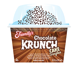 Chocolate Krunch Cake Singles packaging