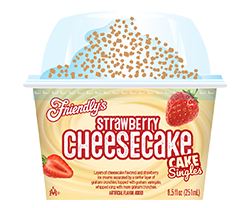 Strawberry Cheesecake Cake Singles packaging