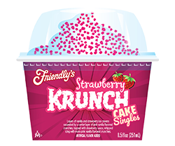 Strawberry Krunch Cake Singles packaging