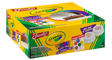 Crayola(TM) Cake packaging
