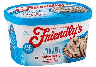 Fudge Berry Swirl Frozen Yogurt packaging