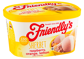 Raspberry – Orange – Lemon – Sherbet packaging