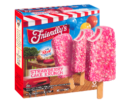 Strawberry Cake Krunch Ice Cream Bar