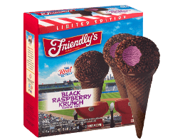 Black Raspberry Krunch Sundae Cone