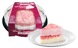 Strawberry Krunch Ice Cream Cake