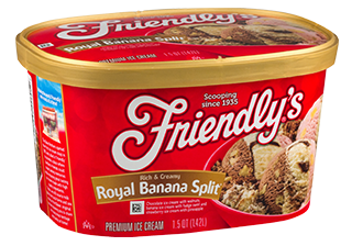 Royal Banana Split(R) packaging