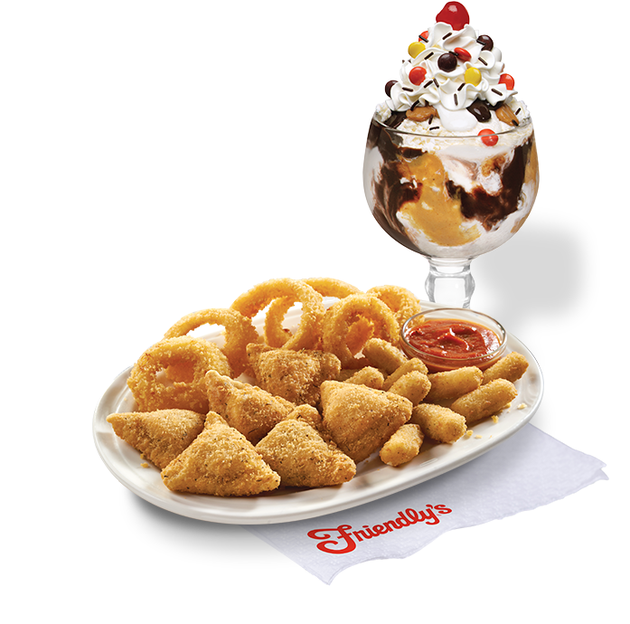 Pizza Poppers and Reese's Sundae