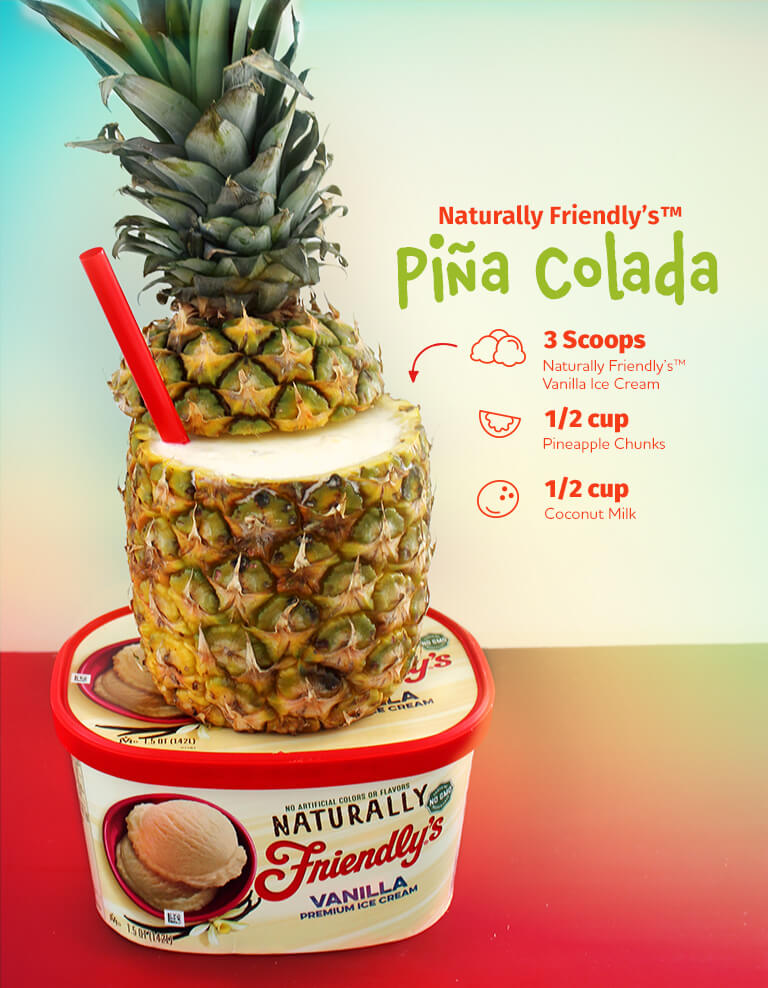 Naturally Friendly's(R) Piña Colada Milkshake