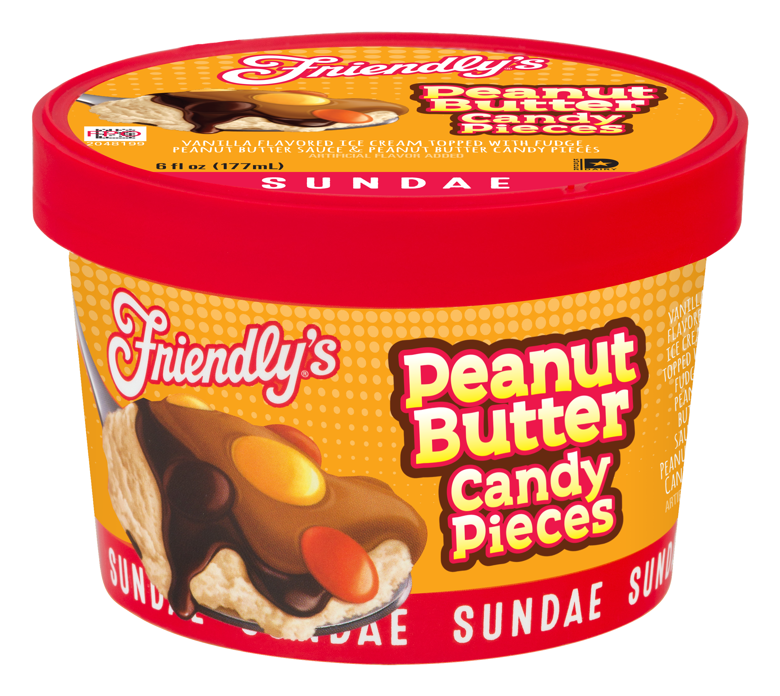 Peanut Butter Candy Pieces Sundae Cup