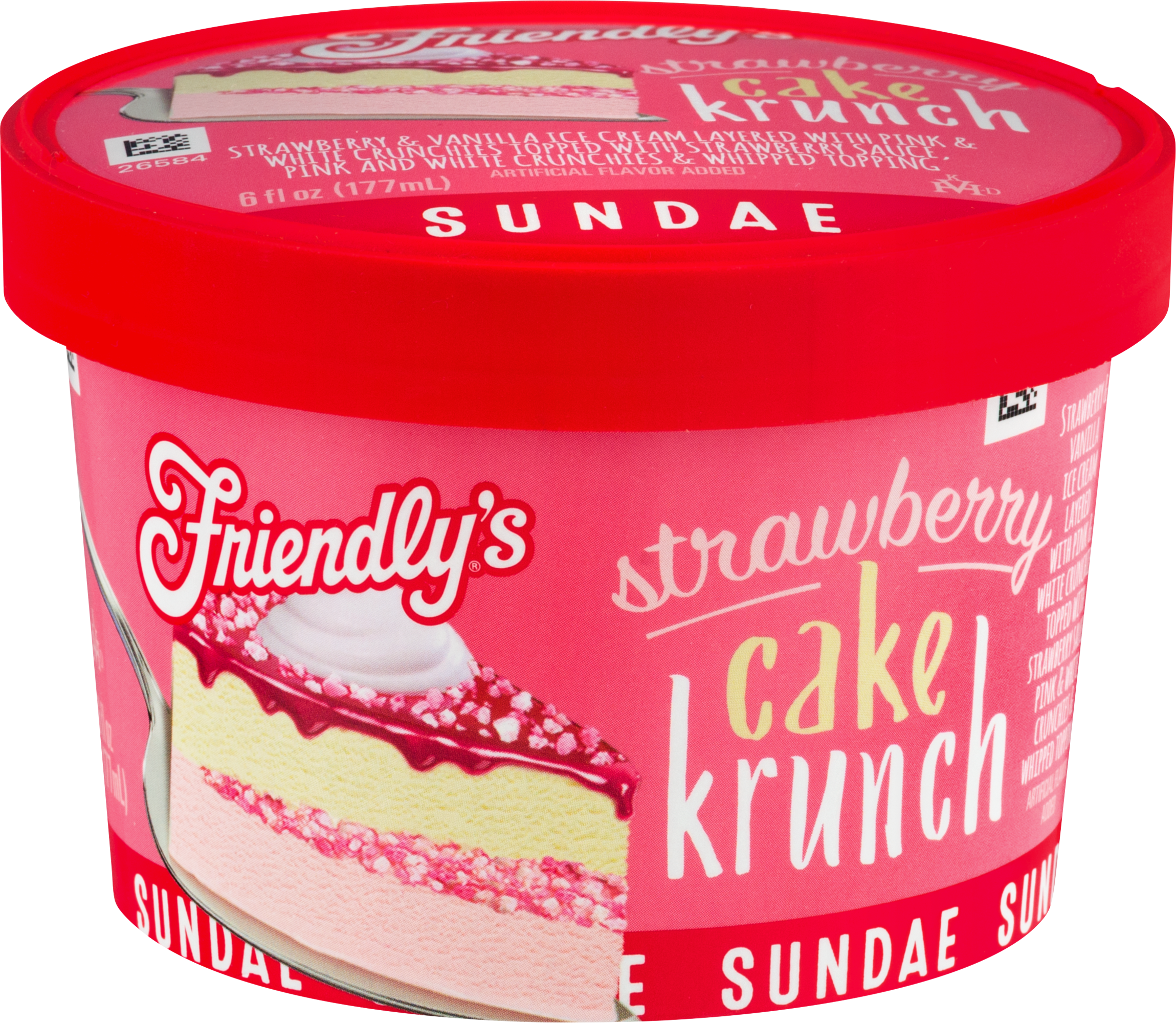 Strawberry Cake Krunch Sundae Cup