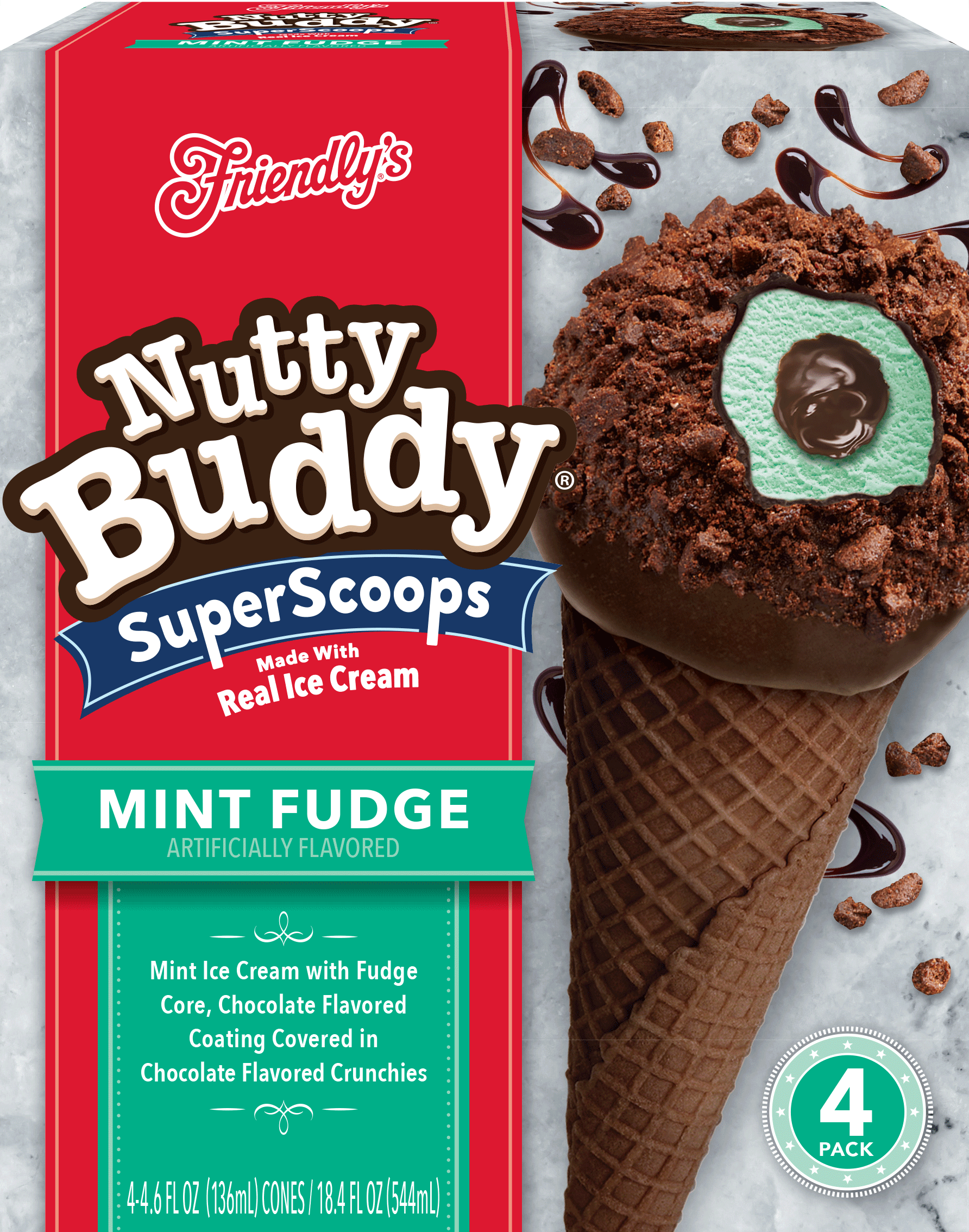 Mint Fudge Nutty Buddy